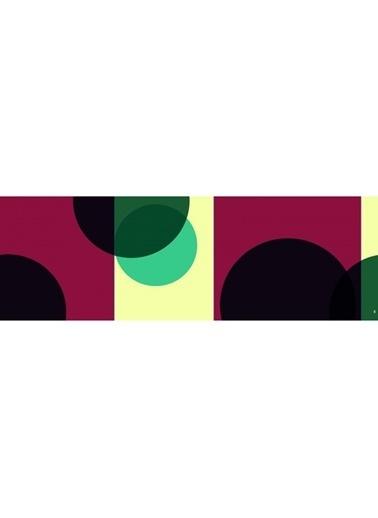 Artikel Renkli Daireler Runner Masa Örtüsü 43,5X141,5Cm Renkli